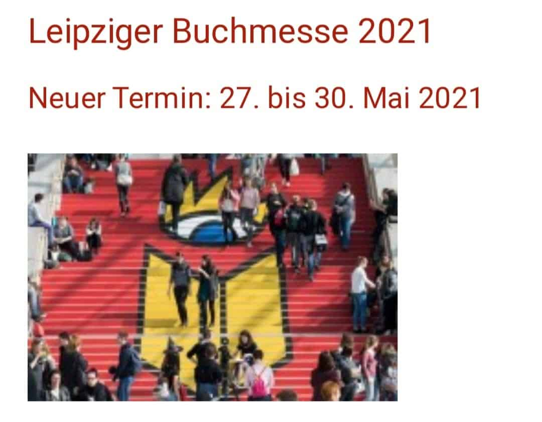 Leipzig Book Fair - new date May 27th - May 30th, 2021